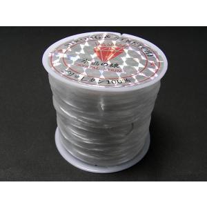 オペロンゴム 伸縮糸  アクセサリー副資材 テグス  白 約70m ハンドメイドアクセサリー用|b-soft