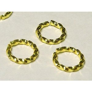 丸カン アクセサリーパーツ スパイラル ゴールド 約8mm  約100個セット販売 b-soft