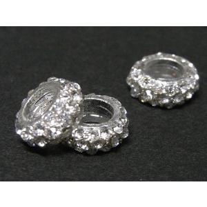 スペーサー アクセサリーパーツ ゴージャス 古代銀 約9×3mm 穴サイズ約5mm  20個セット|b-soft