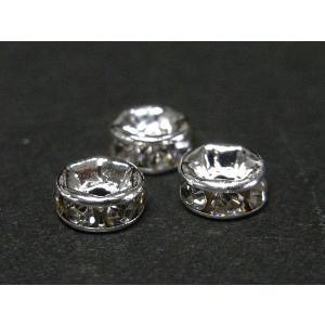 ロンデル 平型 古代銀 約5mm  約50個セット|b-soft