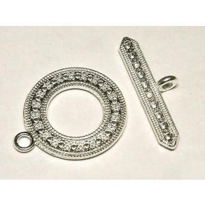 マンテル メーテル 古代銀 アクセサリーパーツ 留め具 10セット販売|b-soft