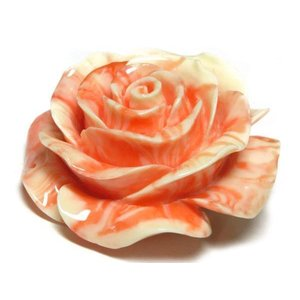 珊瑚 練り 薔薇型パーツ ピンク 約51×24mm 1個販売 ビーズ さんご サンゴ コーラル 山珊瑚 海竹 ハンドメイドアクセサリーパーツ|b-soft