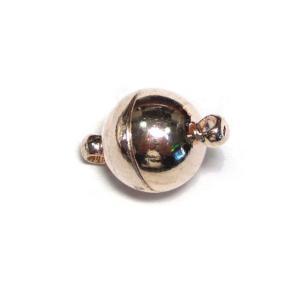 マグネットクラスプ ラウンド ピンクゴールド 約15×10mm 10個 磁石 留め具 留具 ハンドメイドアクセサリーパーツ b-soft