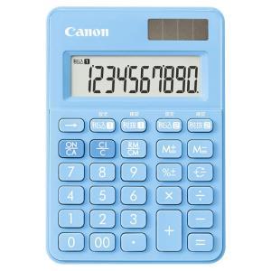 卓上電卓 軽減税率対応モデル 10桁  アクアブルー キヤノン LS-100WT
