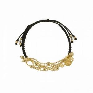 Blee Inara ブリーイナラ ブレスレット Varying Chains Macrame Bracelet/Black|b-t-f