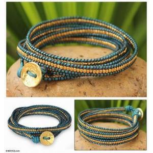NOVICAブレスレット Golden Azure Wrap|b-t-f