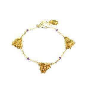 chibi jewels チビジュエルズ ブレスレット Fringe Bracelet with Gemstones アメジスト|b-t-f