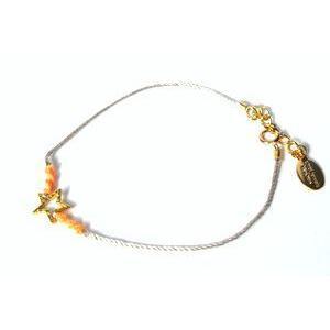 chibi jewels チビジュエルズ ブレスレット Neon Thread with Charm Bracelet オレンジ/スター|b-t-f