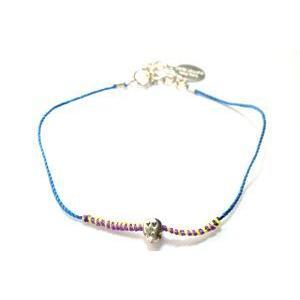 chibi jewels チビジュエルズ ブレスレット Neon Thread Love Skull Bracelet ブルー/ネオン|b-t-f