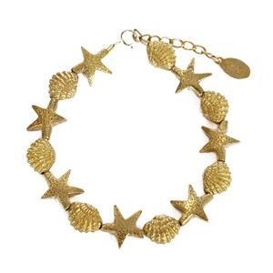 chibi jewels チビジュエルズ ブレスレット スターフィッシュ&コックル シェル ビーズ|b-t-f