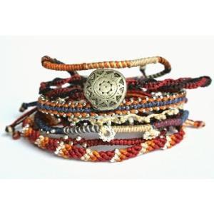 Wakami ワカミ ブレスレット Earth Bracelet7ストランド/アフリカン|b-t-f