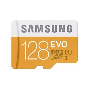 Samsung 128GB EVO Micro SDXC up to 48MB/s with Ada...