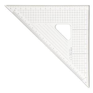 24cm×45°三角定規:ステンエッジ三角定規24T-45(側面ステンレス加工)【デザイン文具】【事務用品|b-town