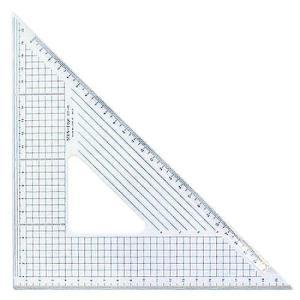 30cm×45°三角定規:ステンエッジ三角定規30T-45(側面ステンレス加工)【デザイン文具】【事務用品】【楽ギフ_包装】【楽ギフ_メッセ】02P05July14|b-town