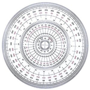 全円分度器 C-12 (直径12cm)【デザイン文具】【事務用品】 b-town