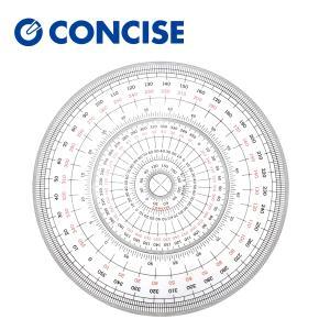 全円分度器 C-18 (直径18cm)【デザイン文具】【事務用品】 b-town