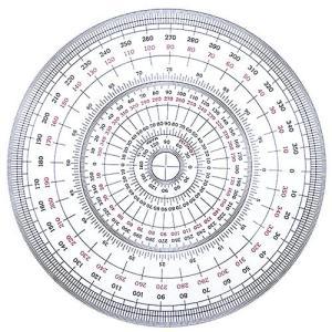 全円分度器 C-25 (直径25cm)【デザイン文具】【事務用品】 b-town