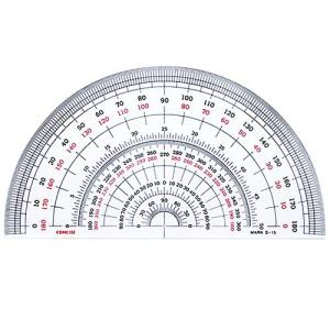半円分度器 S-18 (直径18cm)【デザイン文具】【事務用品】 b-town