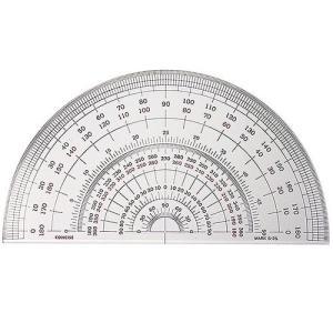 半円分度器 S-30 (直径30cm)【デザイン文具】【事務用品】 b-town