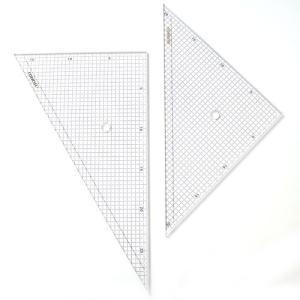 30cm三角定規330T-5(5mm方眼入)【デザイン文具】【事務用品】|b-town