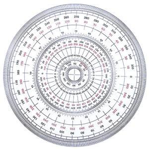 全円分度器 C-25 (直径25cm) 100386|b-town
