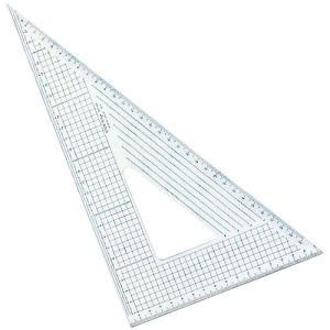 ステンエッジスケール三角定規  30T-60 (30cm×60°三角定規:側面ステンレス加工)|b-town