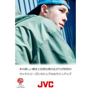 JVC カナル型イヤホン N_W WOODシリーズ ハイレゾ対応 ブラウン HA-FW7-T