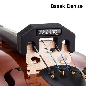 バイオリン 消音器 ヴィオラ ヴァイオリン 消音器 ミュート 硬質ゴム製 夜間 練習用  ビオラ