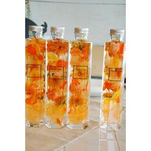 ハーバリウム 6角ボトル オータムオレンジ6or5|baba0878|05