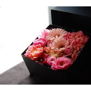 ボックスフラワー ピンク 生花boxflower pink|baba0878