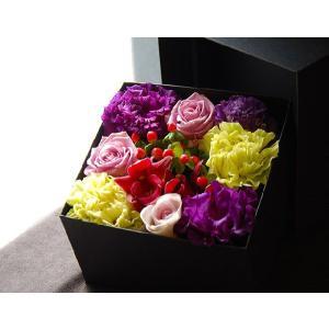ボックスフラワー パープル 生花boxflower purple|baba0878