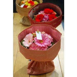 花束 ラウンドブーケ 花束のまま飾れるキュートブーケ ピンク|baba0878