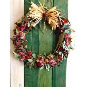 ドライフラワー ナチュラルリース1 30cm dried flower Wreath|baba0878