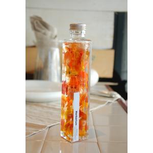 ハーバリウム 角ボトル オレンジ