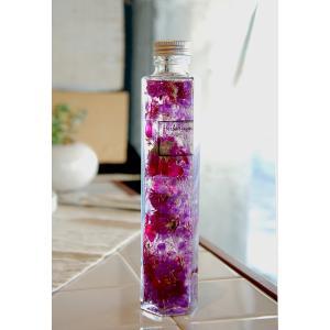 ハーバリウム 6角ボトル 紅紫ラズベリーパープル|baba0878