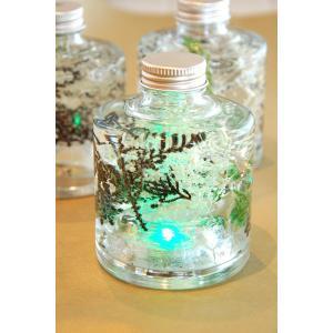 ハーバリウム スタッキングボトル ホワイト LEDライト付き|baba0878