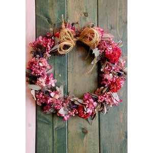 ドライフラワーリース直径26cmMサイズ1 26cm dried flower Wreath|baba0878
