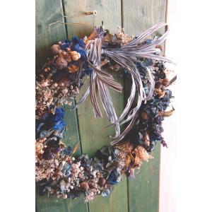 ドライフラワーリース直径26cmMサイズ2 26cm dried flower Wreath|baba0878