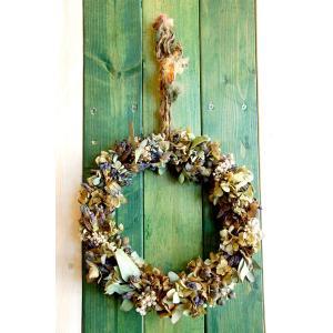 ドライフラワーリース直径26cmMサイズ3 26cm dried flower Wreath|baba0878