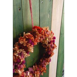 ドライフラワーリース直径26cmMサイズ4 26cm dried flower Wreath|baba0878
