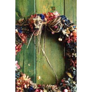 ドライフラワーリース直径26cmMサイズ5 26cm dried flower Wreath|baba0878