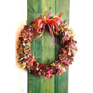 ドライフラワー ナチュラルリース4 30cm dried flower Wreath|baba0878