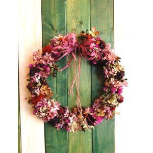 ドライフラワー ナチュラルリース5 30cm dried flower Wreath|baba0878