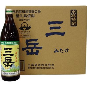 20%off業務用 屋久島産本格焼酎 三岳900ml×12本(化粧箱なし)|baba