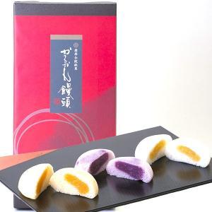 かるかん饅頭 紫いも・黄金いも・紅隼人いもあん 8個入り 3種類のいもあんのかるかん饅頭|baba