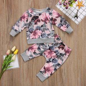 【Sale】子供 ベビー服 キッズ服 花柄 セットアップ パジャマ 上下セット 女の子 赤ちゃん