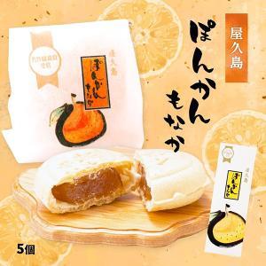 屋久島銘菓 ぽんかんもなか 5個入|babayaku