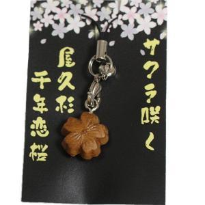 サクラ咲く 屋久杉千年恋桜 ストラップ|babayaku