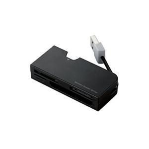 エレコム カードリーダー USB2.0 ケーブル収納タイプ 48メディア対応 MR-K013BK