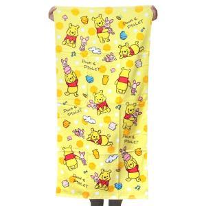 ディズニー バスタオル ブライト くまのプーさん BI458100 キャラクター お風呂 グッズ 大判 林 タオル かわいい タオルケット ネコポス可 babu